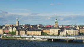 Stockholm sikt, Sverige, timelapse, 4k stock video