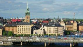 Stockholm sikt, Sverige, timelapse, zoom ut, 4k lager videofilmer