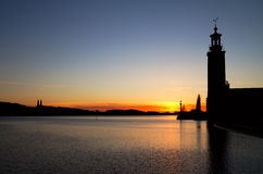 Stockholm silhouette. Royalty Free Stock Image