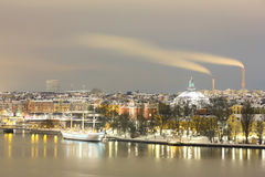 Stockholm Skyline Cityscape Royalty Free Stock Images