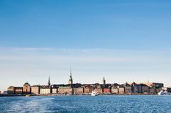 Stockholm skyline. Skyline and cityscape of Stockholm, capital of Sweden Stock Photos