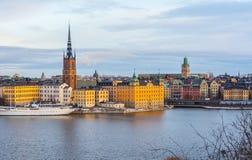 Stockholm-Skyline (Januar) Lizenzfreies Stockfoto
