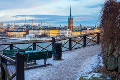 Stockholm Skyline (January) Royalty Free Stock Photo