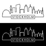 Stockholm skyline. Linear style. Stock Photography