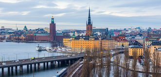 Stockholm Skyline Panorama Royalty Free Stock Images