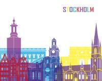 Stockholm skyline pop Stock Images