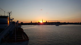 Stockholm skyline sunset Royalty Free Stock Image