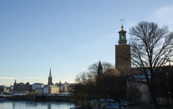Stockholm skyline with towers Stock Photos