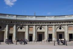 Stockholm slottborggård royaltyfria bilder