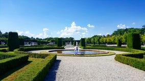 Stockholm slottträdgårdar Arkivfoto