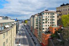 Stockholm, Sodermalm. Katarinavaggen street Stock Image