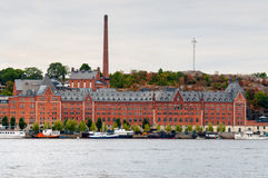 Stockholm Sodermalm waterfront Stock Image