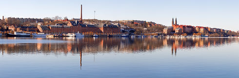 Stockholm south panorama. Royalty Free Stock Photography