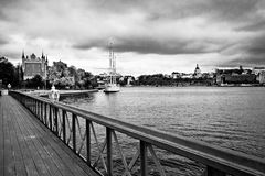 Stockholm spot. Stockholm city, a cloudy autumn day Stock Photo