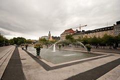 Stockholm springbrunnar. Royaltyfri Foto