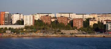 Stockholm stad aff?rsf?retag i Skandinavien arkivfoto