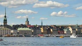 Stockholm stad på sommar stock video