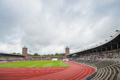 The Stockholm Stadium just before the start of the marathon Royalty Free Stock Images
