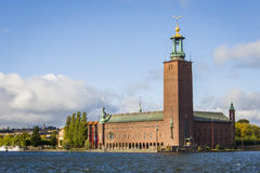 Stockholm stadshus Arkivfoton