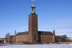Stockholm stadshus Arkivfoto