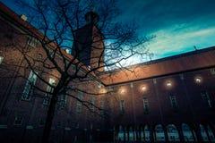 Stockholm stadshus at Sweden stock photo