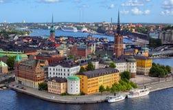 Stockholm-Stadt Stockfotos