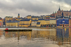 Stockholm-Stadt, Schweden lizenzfreie stockbilder