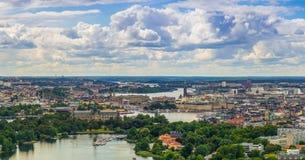 Stockholm-Stadt-Skyline 2013 Lizenzfreie Stockfotografie