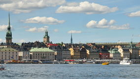 Stockholm-Stadt am Sommer stock video footage