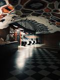 Stockholm stationstunnelbana Arkivbilder