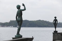 Stockholm: statues of dance and song Royalty Free Stock Image