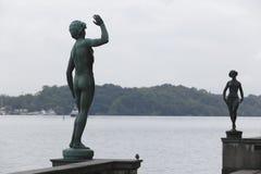 Stockholm : statues de danse et de chanson Image libre de droits