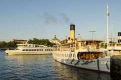 Stockholm steamer and ferry Royalty Free Stock Images
