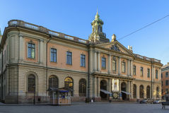 Stockholm Stock Exchange Building. The Stock Exchange Building is a building originally erected for, and is still owned by, the Swedish Academy, located in Gamla royalty free stock photo