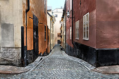Stockholm street. Stockholms quiet and safety street Royalty Free Stock Photo