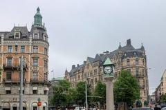 Stockholm Street Clock Sweden Stock Images