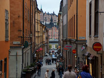 Stockholm Street. Street in Gamla Stan , Stockholm, Sweden royalty free stock photography
