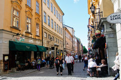 Stockholm street life Royalty Free Stock Photos