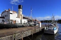 Stockholm, Suède - Museifartygen - musée marin montrant Swe Image stock