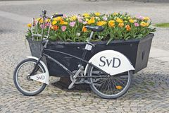 Stockholm, Suède - station de location de bicyclette Photo stock