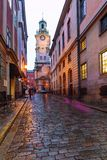Stockholm, Su?de : 6, janvier 2019 : Les rues de la vieille ville ? Stockholm image stock