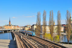 Stockholm. Subway line Old Town - Slussen Stock Image
