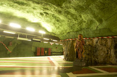 Stockholm Subway. Picture of the amazing subway station in Stockholm Royalty Free Stock Photos
