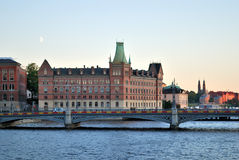 Stockholm after sunset Royalty Free Stock Photo