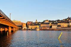Stockholm at sunset Stock Photography