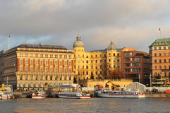 Stockholm at sunset Royalty Free Stock Image