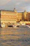 Stockholm at sunset Stock Photos