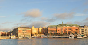 Stockholm at sunset Royalty Free Stock Photos