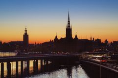 Stockholm sunset Stock Photo