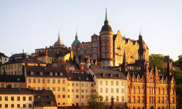 Stockholm at sunset. Royalty Free Stock Images
